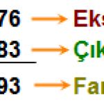 Doğal sayılarda  Çıkarma işlemi öğren