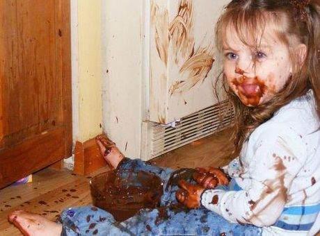 Çikolata lekesi Nasıl Çıkartırılır. buyrun ?