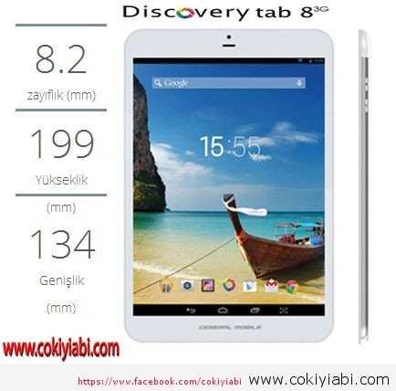 DiscoveryTab8 3g Resimleri Özellikleri Detayları Herşeyi