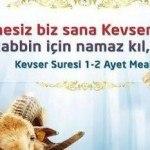 Kevser Suresi Arapça Türkçe Ve Anlamı