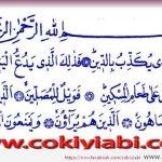 Maun Suresi Türkçe ve Arapça Anlamı