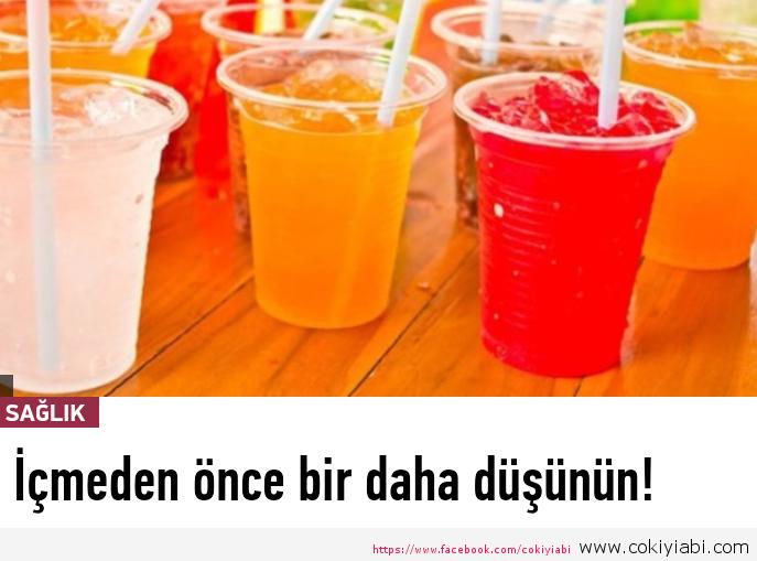 Gazozlu içecekleri İçmeden önce Son bir kez daha düşünün!