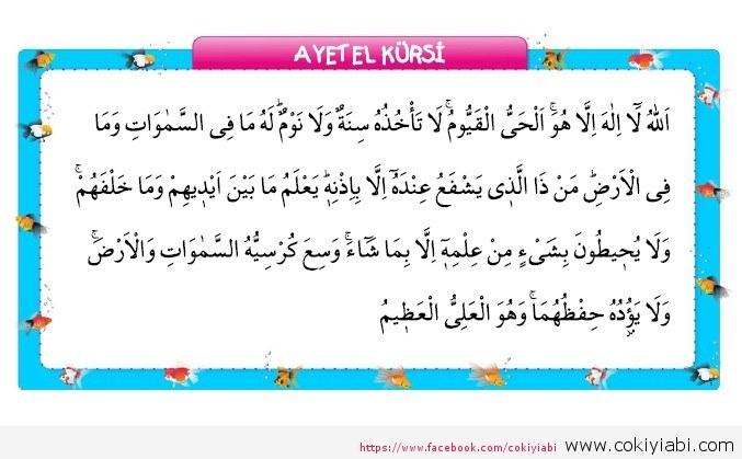 Ayet el kürsi Türkçe Ve Arapça Anlamı