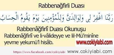 Rabbenafirli Suresi Türkçe ve Arapça Anlamı