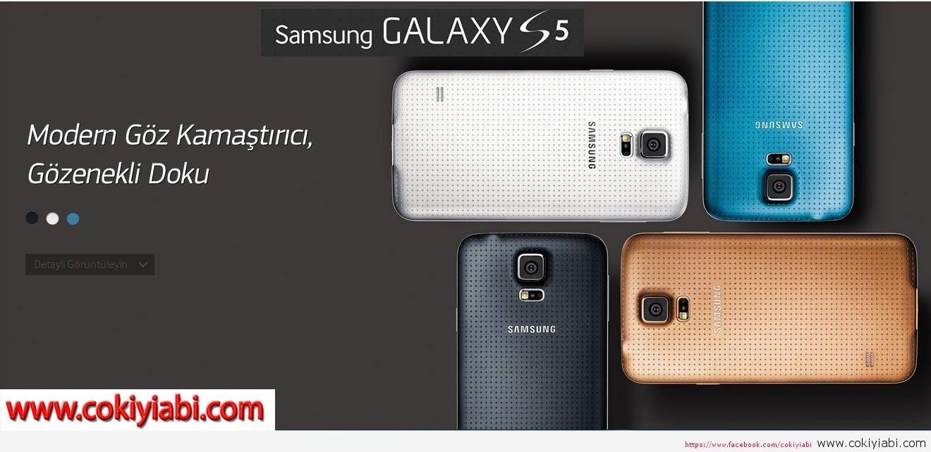 Samsung Galaxy S5 Resimleri Özellikleri Herşeyi