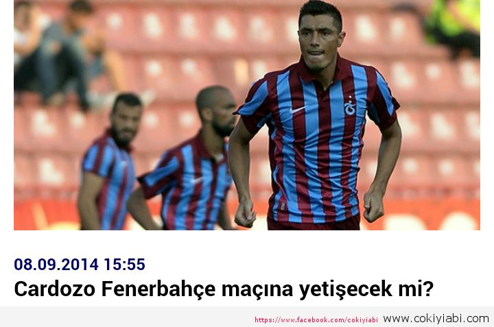 Cardozo Fenerbahçe Maçına Yetişecekmi