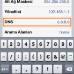 IPHONE DNS AYARLARINI DEĞİŞTİRME  RESİMLİ ANLATIM