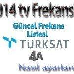 Türksat 4 A Frekans Nasıl Ayarlanır ve Tüm Kanalların frekansları
