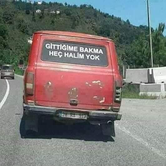 Araba arkası güzel sözler