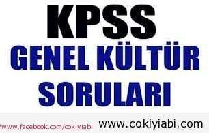 KPSS GENEL KÜLTÜR SORULARI