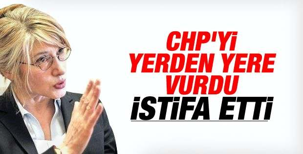 CHP'DE İSTİFA...