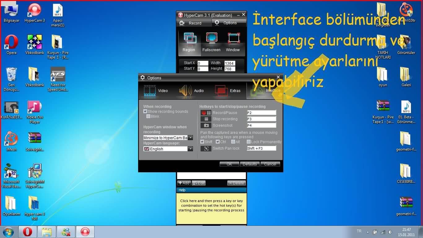 Ekran Videosu Çekme Programı