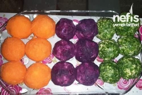 Renk Renk Patates Topları Tarifi ve Yapılışı