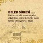 BELED SURESİ VE TÜRKÇE MEALİ