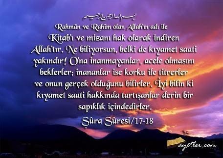 ŞÛRÂ Suresi Arapça ve Türkçe Meali