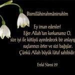 ENFAL Suresi Arapça ve Türkçe Meali