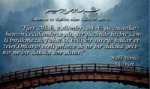 NAHL Suresi Arapça ve Türkçe Meali