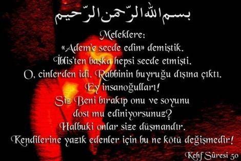KEHF Suresi Arapça ve Türkçe Meali
