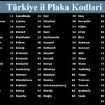 Türkiyedeki İllerin Plaka Kodları  ve Herşey