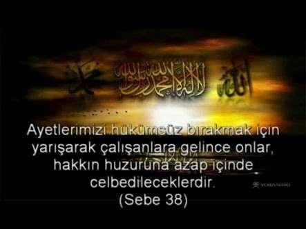 SEBE Suresi Arapça ve Türkçe Meali