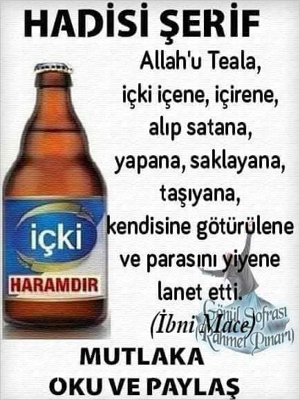içkinin islamda yeri