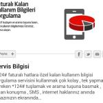 Faturalı Hatlarda Dakika sms İnternet Sorgulama Numarası