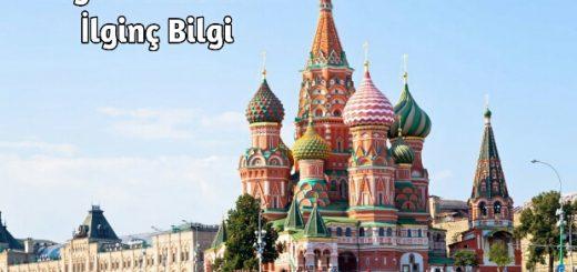 Rusya hakkında ilginç Bilgiler
