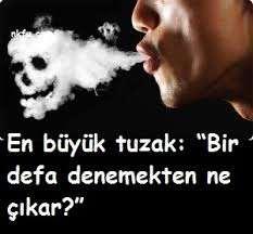 Sigara ile Alakalı Söz ,Slogan, Resimli sözler ve Yazılar