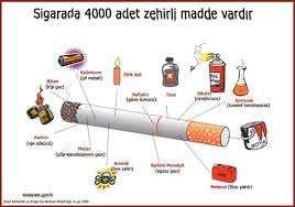 Sigaradaki zehiri anlatan resimler