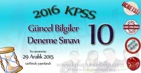 2016 Kpss Genel Kültür Soruları 1.Bölüm