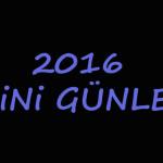 2016 Dini Günler Takvimi