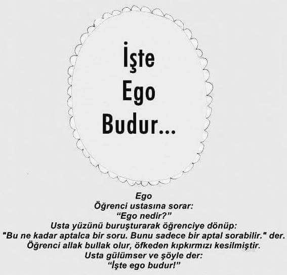 Ego ile ilgili Söz