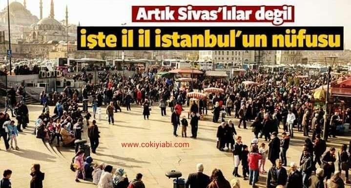 İstanbulda Hangi ilden Kaç Kişi Yaşıyor