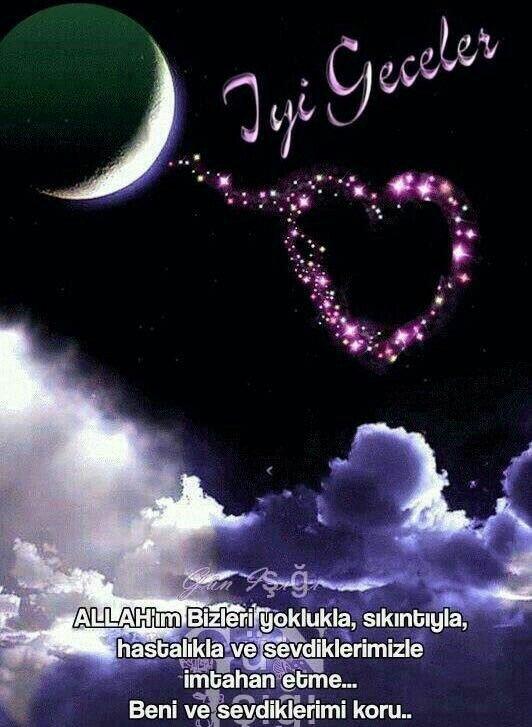 Resimli iyi geceler Mesajları