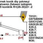 Cnc Torna G92 Diş Çekme