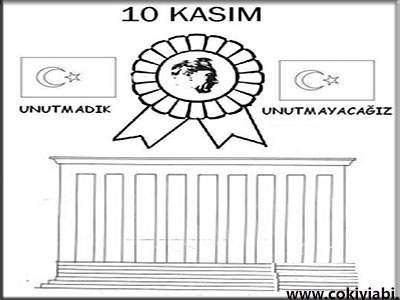 10 Kasim Boyama Resimleri Güzel Sözler
