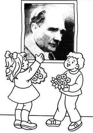 10 Kasim Cocuk Ve Ataturk Boyama Resimleri Güzel Sözler