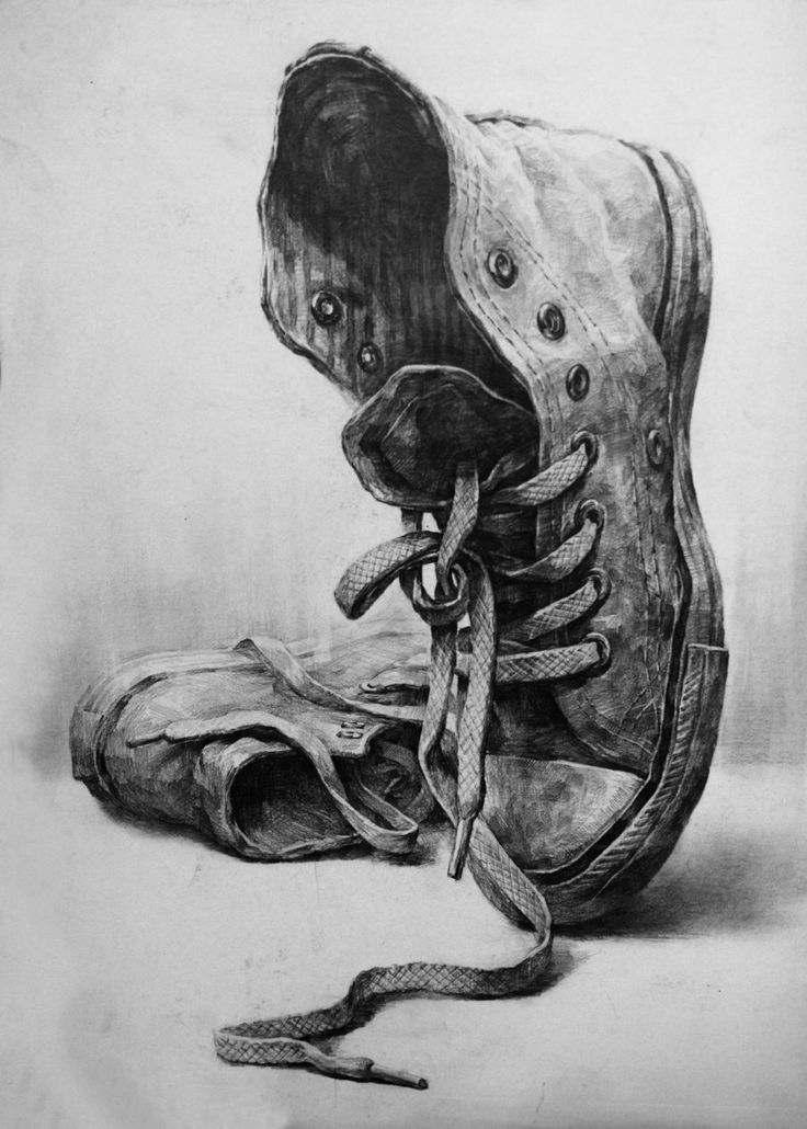 Karakalem Ayakkabı  Çizimleri  (Resimleri)