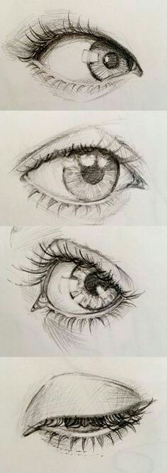 Karakalem Göz çizimi Güzel Sözler
