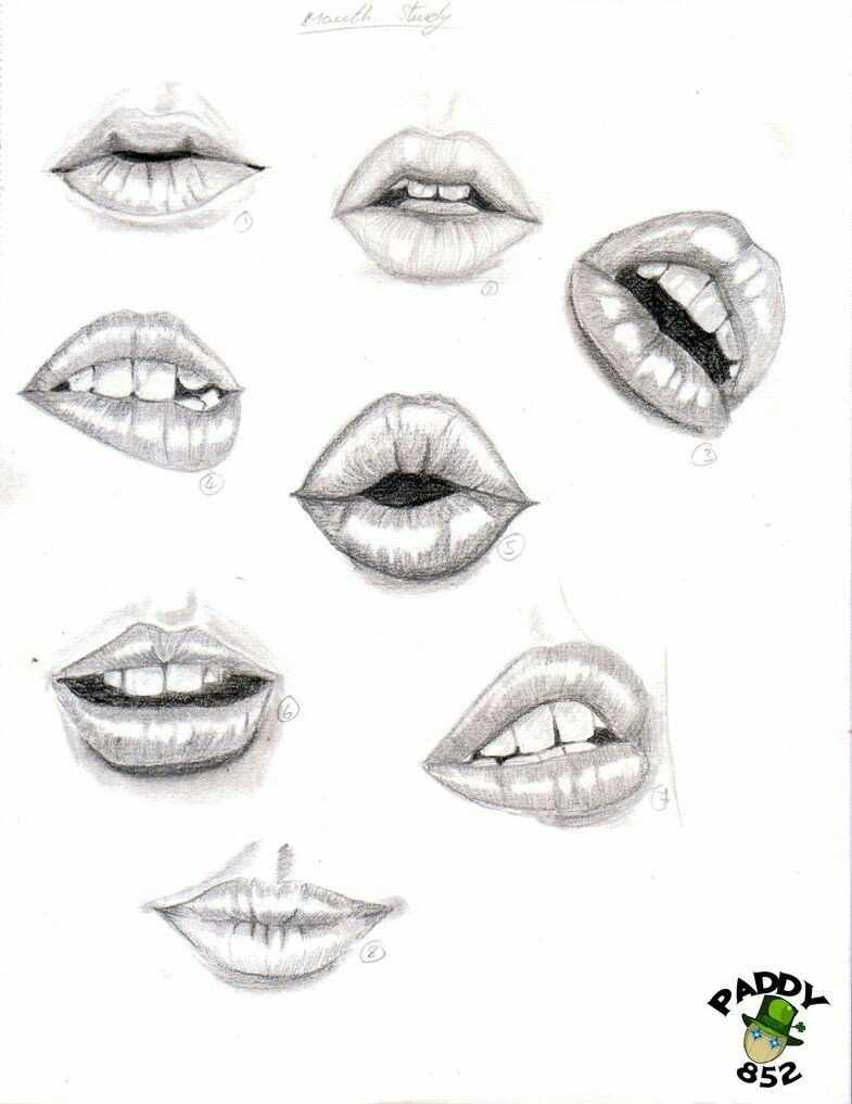 dudak  u00c7izimleri karakalem