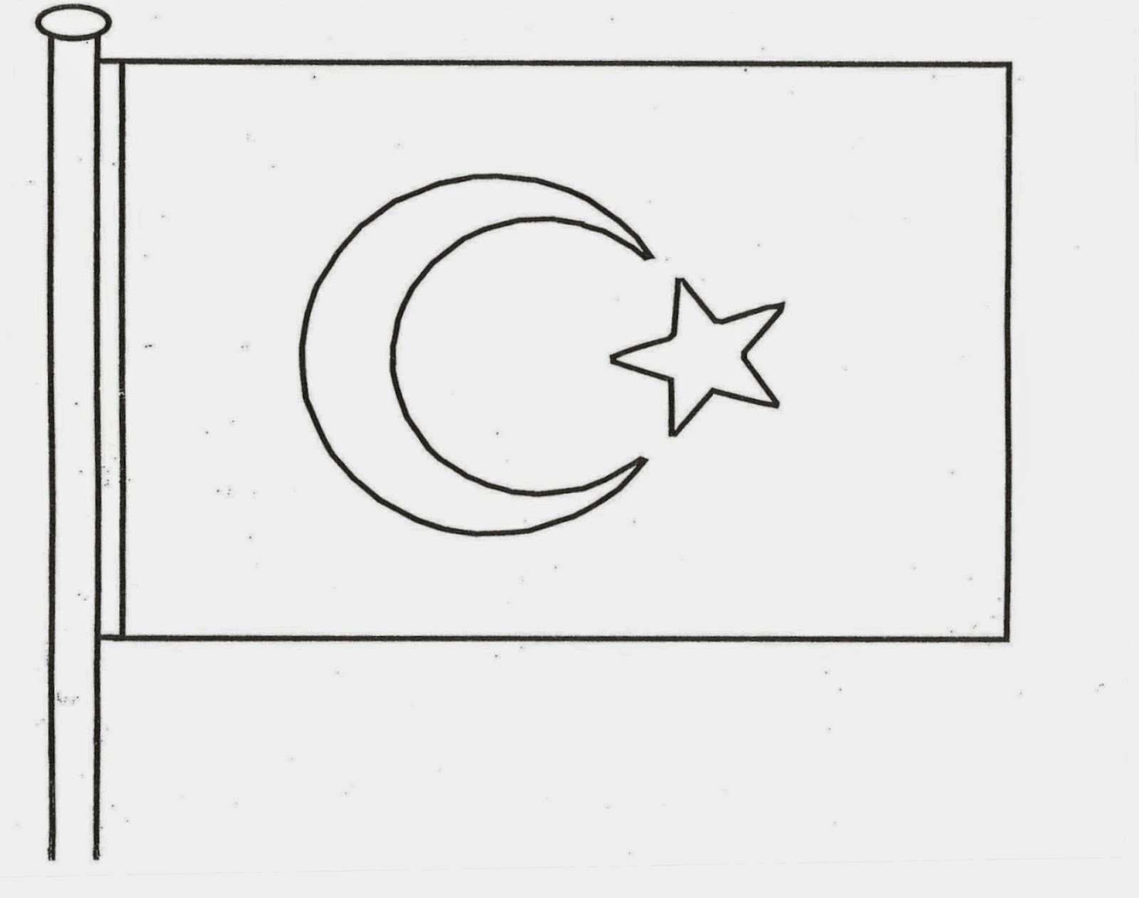 Turk Bayragi Boyama Resmi Güzel Sözler