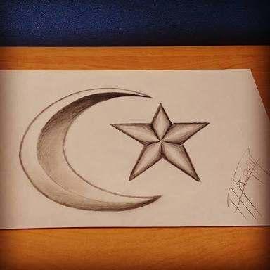 Türk Bayrağı Karakalem çizimleri Güzel Sözler