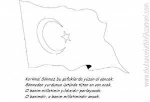 Turk Bayragi Ve Istiklal Marsi Boyama Resmi Güzel Sözler