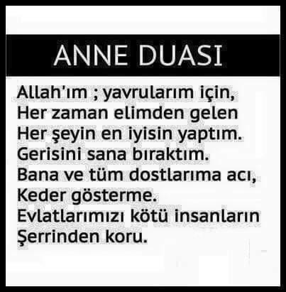 Anne duası