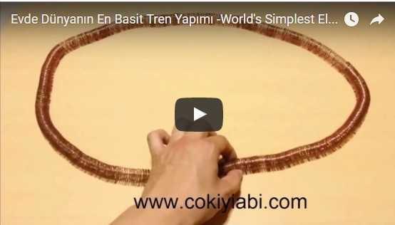World's Simplest Electric Train -Evde Dünyanın En Basit Tren Yapılışı