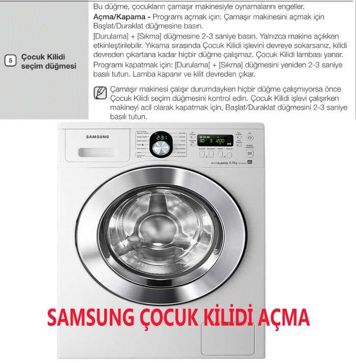 Samsung Çamaşır Makinesi Anahtar Kilit Açma