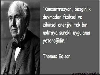 Thomas Edison Sözleri