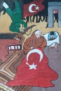 18 Mart Çanakkale Savaşı çizimleri