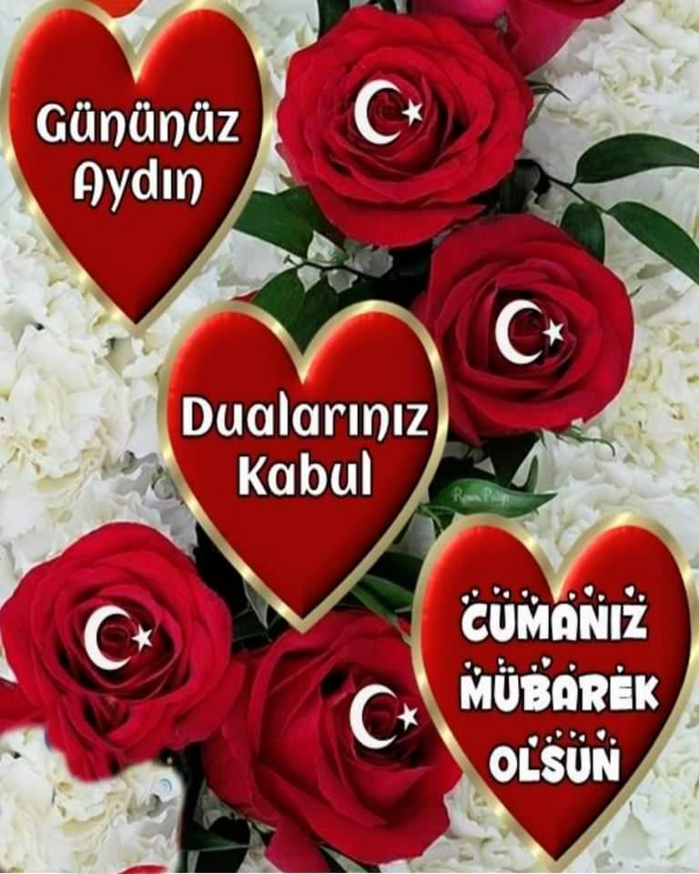Türk bayraklı RESİMLİ Cuma günü mesajları