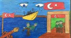 Çanakkele savaşı çizimleri